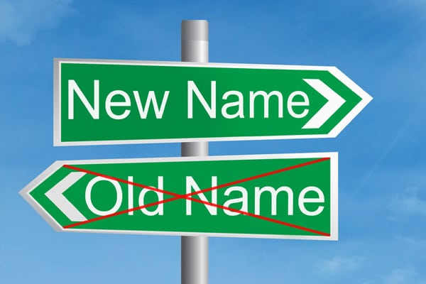 Taking on a new name